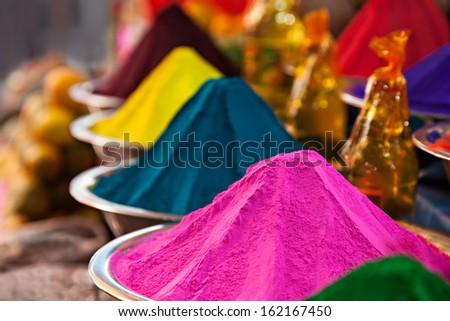 Spicies on Goa market, Goa state, India. - stock photo