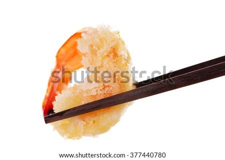 Spicy asian fried shrimp called bang bang - stock photo