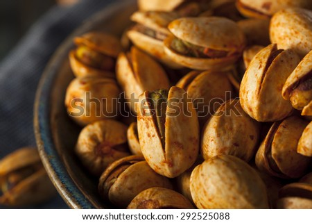Spicy BBQ Chipotle Pistachios in a Bowl