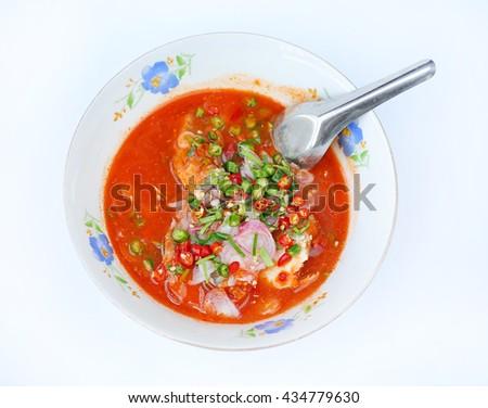 Spicy Canned Sardine Salad - stock photo