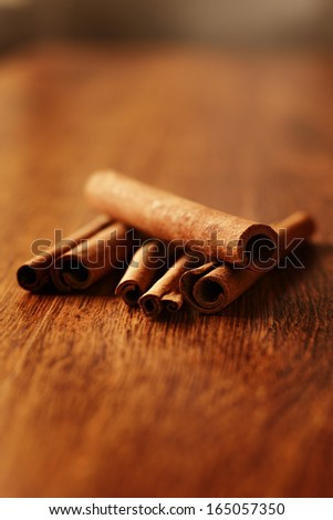 Spicy fresh cinnamon sticks used as a seasoning and flavouring in cooking - stock photo