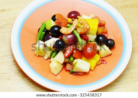 spicy fruits salad