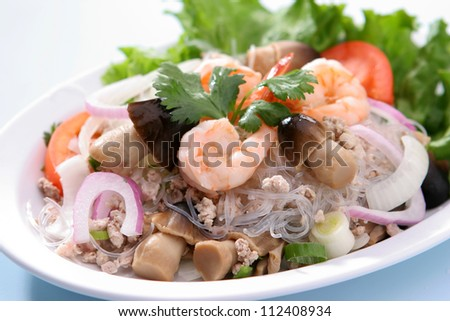 Spicy Glass Noodle Salad - stock photo