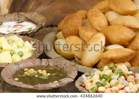 Spicy Gol Gappa indian street food