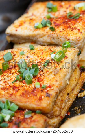 Spicy hot bean curd - a popular dish - stock photo