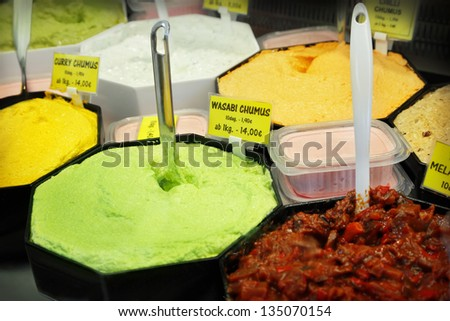 Spicy hummus - stock photo