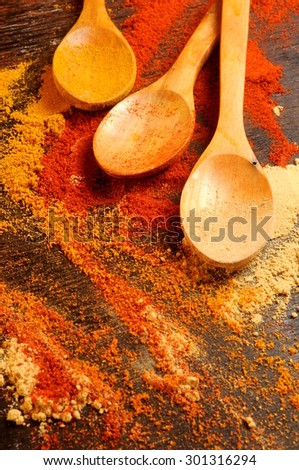 spicy ingredients food  - stock photo