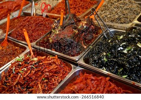 Spicy Korean Kimchee  - stock photo
