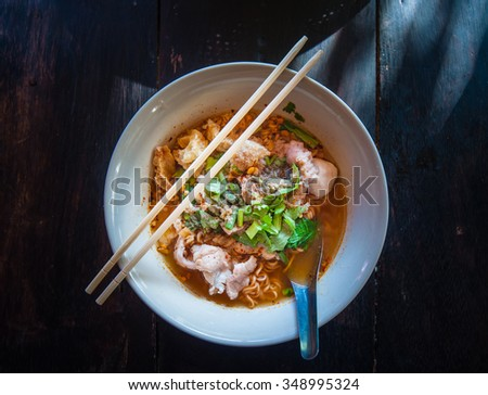 Spicy noodle - stock photo