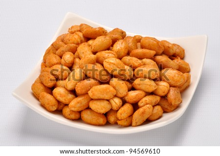 Spicy Peanuts im-3 - stock photo