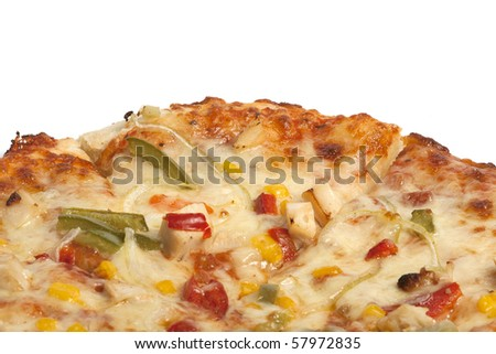 spicy pizza with barbecue chicken