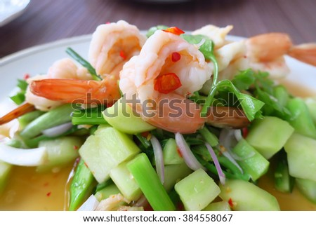 SPICY SALAD WITH SHRIMPS