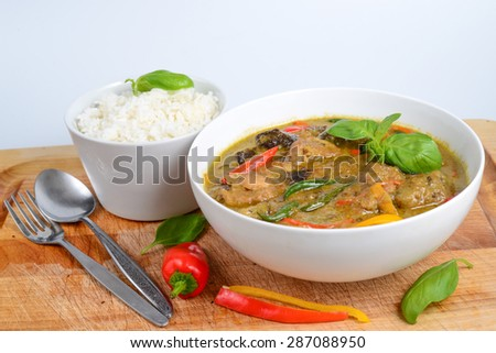 Spicy Thai Green Curry Chicken with Rice, Thai food (green curry green curry green curry green curry green curry green curry green curry green curry green curry green curry green curry green curry)
