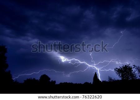 Spider Lightning - stock photo