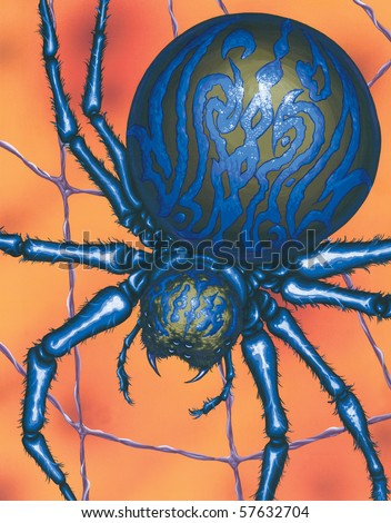 Spider Painting - stock photo