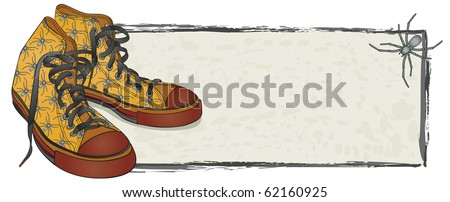 Spider Sneakers Banner - Raster Version - stock photo