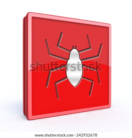 Spider square icon on white background