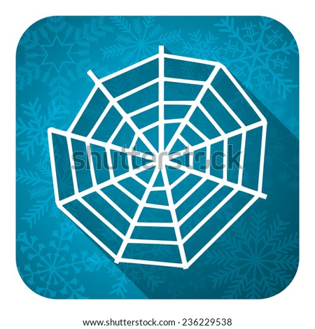 spider web flat icon, christmas button