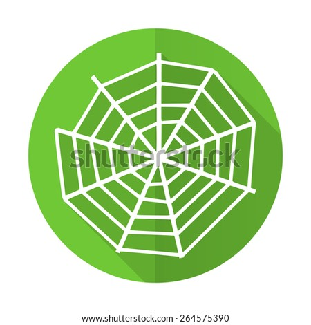 spider web green flat icon