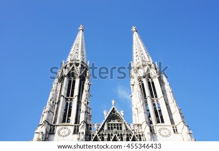 Spiers of the Gothic Cathedral. Europe, Austria.