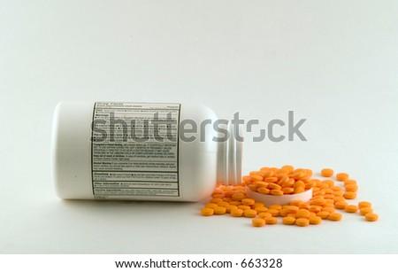 Spilled Medicine - stock photo