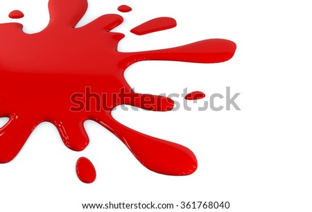 Spilled Red Paint - stock photo