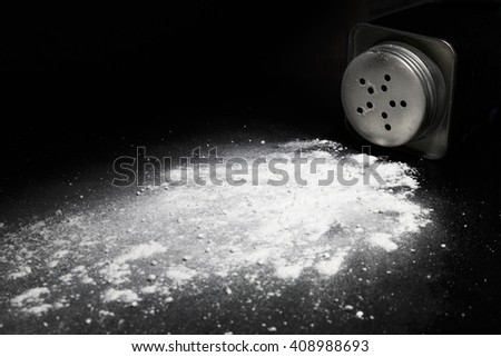 spilled talcum powder