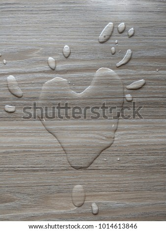 Spilled Water On Wooden Table Splash Stock Photo Royalty Free