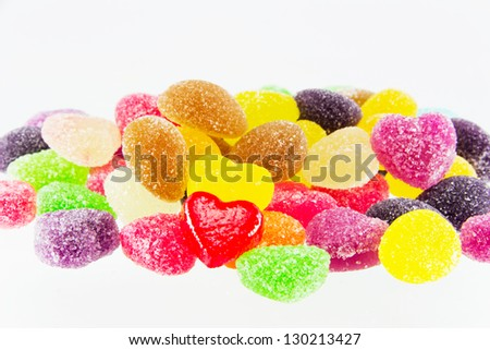 Spilling colorful candy