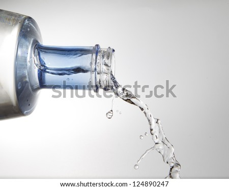 spilling water bottle