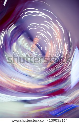 spin light abstract background - stock photo