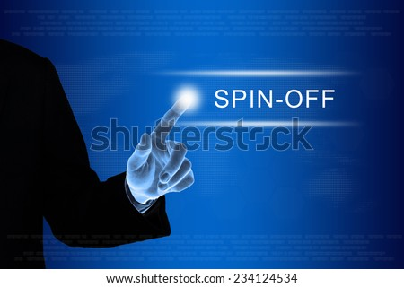 spin off is a type of corporate transaction forming a new company or entity - stock photo