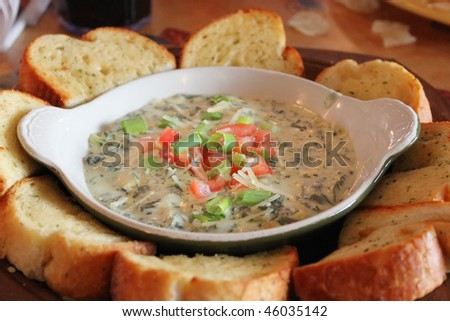 Spinach dip - stock photo