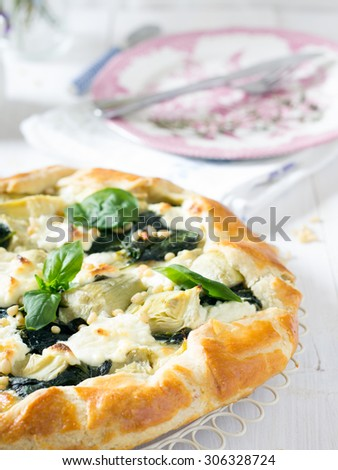 Spinach galette