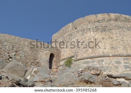 Spinalonga Fort - stock photo