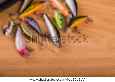 Spinning bait, blurred background