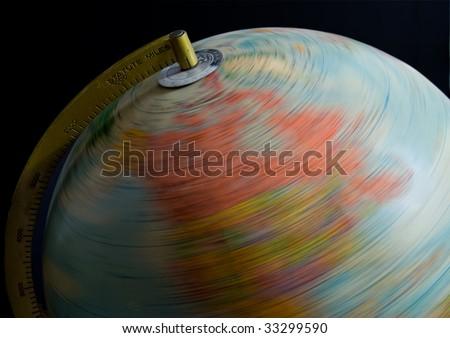 Spinning Globe - stock photo