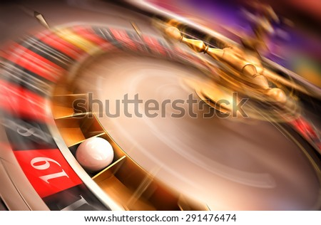 spinning roulette - stock photo