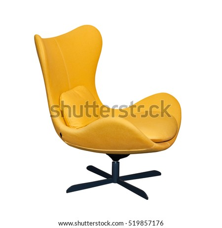 spinning yellow office chair isolated on stock photo royalty free