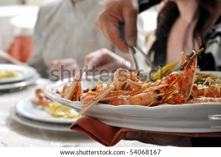 Spiny lobsters, also known as langouste or rock lobsters Palinuridae
