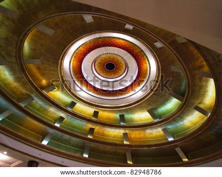 Spiral Artistic Ceiling - stock photo