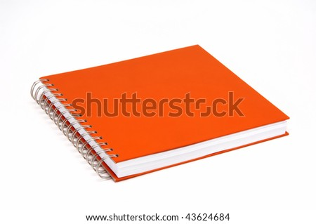 spiral binder red book isolated at white background