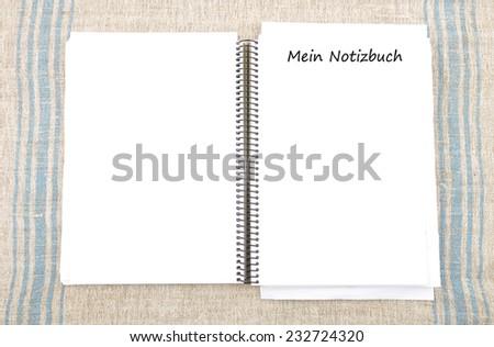 Spiral book - stock photo