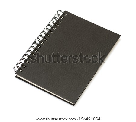 spiral book isolated on white - stock photo