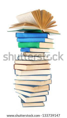 Spiral books isolated on white
