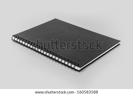 Spiral Bound Notebook with blank pages - stock photo