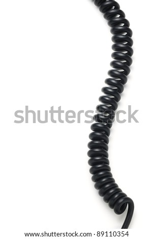Spiral cable - stock photo