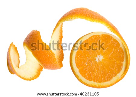 spiral citron of orange - stock photo