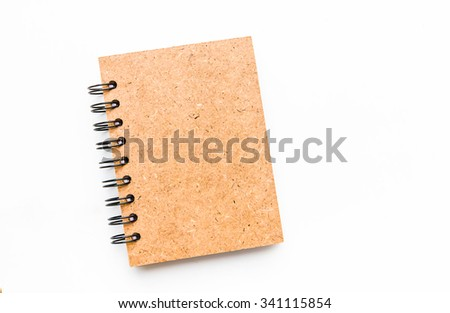 Spiral close note book on white background - stock photo