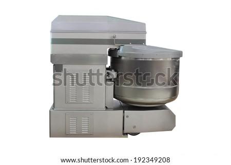 spiral dough mixer under the white background - stock photo